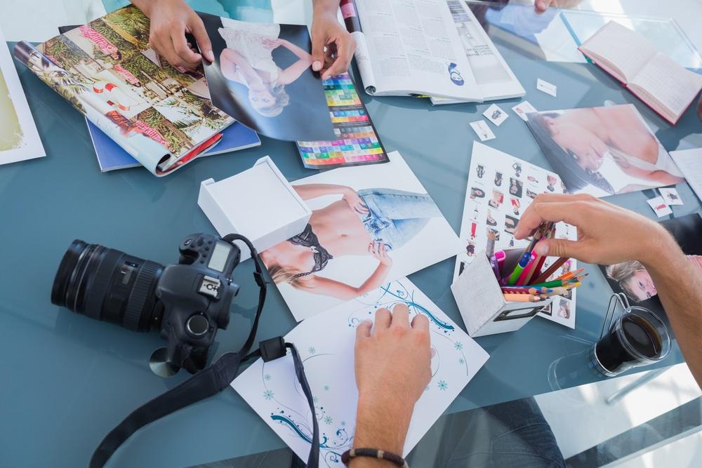 layout of magazine editor